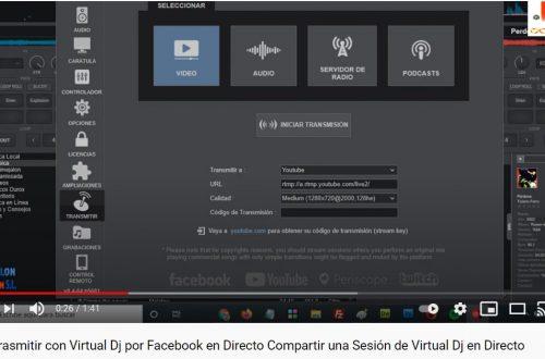 Trasmitir con Virtual Dj por Facebook en Directo