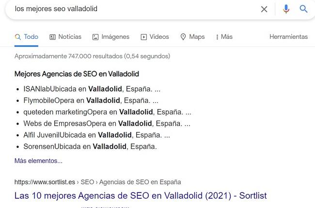 buscando en el mejor buscador de internet Google Los Mejores SEO Valladolid